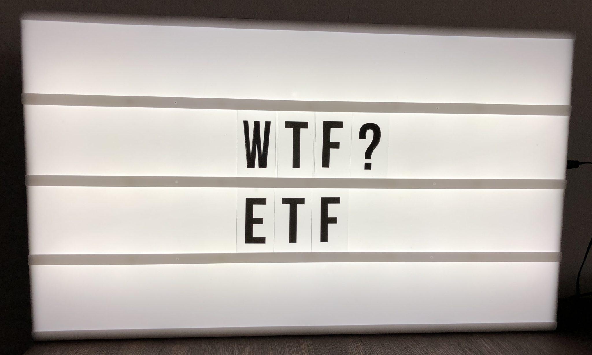Was sind ETF